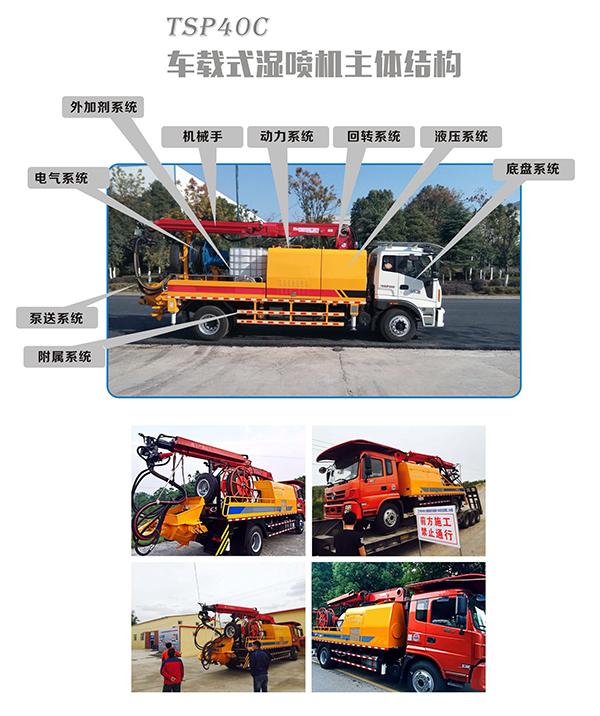 混凝土湿喷机、湿喷台车、湿喷机械手、车载式湿喷机的主结构图